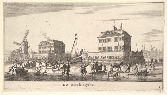 Winter Scene at the Blockhouse in Amsterdam