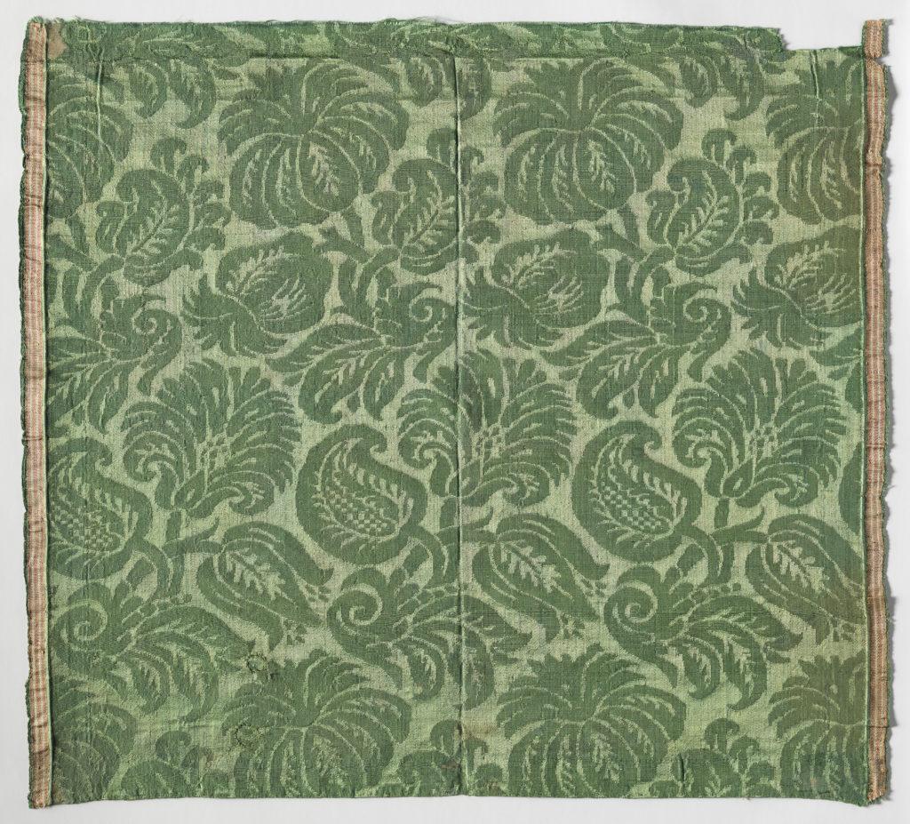Woven silk damask