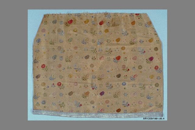 Woven silk skirt panel