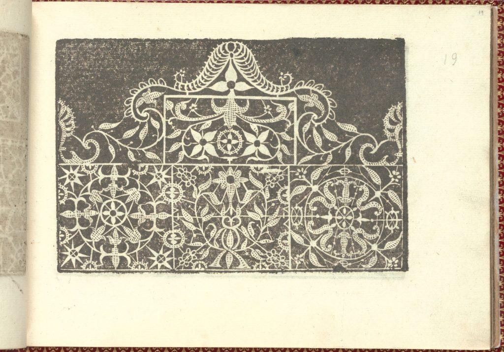 Corona delle Nobili et Virtuose Donne: Libro I-IV, page 19 (recto)