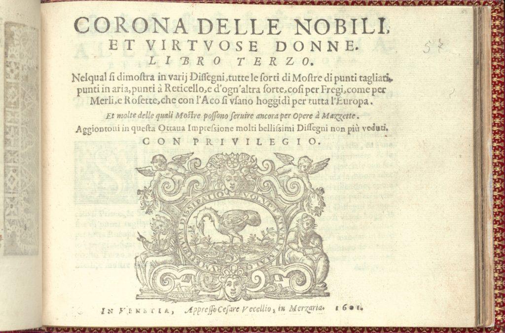 Corona delle Nobili et Virtuose Donne: Libro I-IV, page 57 (recto)
