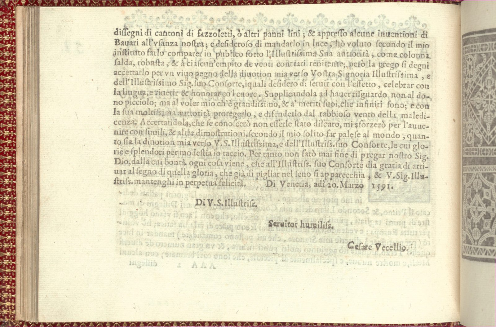 Corona delle Nobili et Virtuose Donne: Libro I-IV, page 58 (verso)