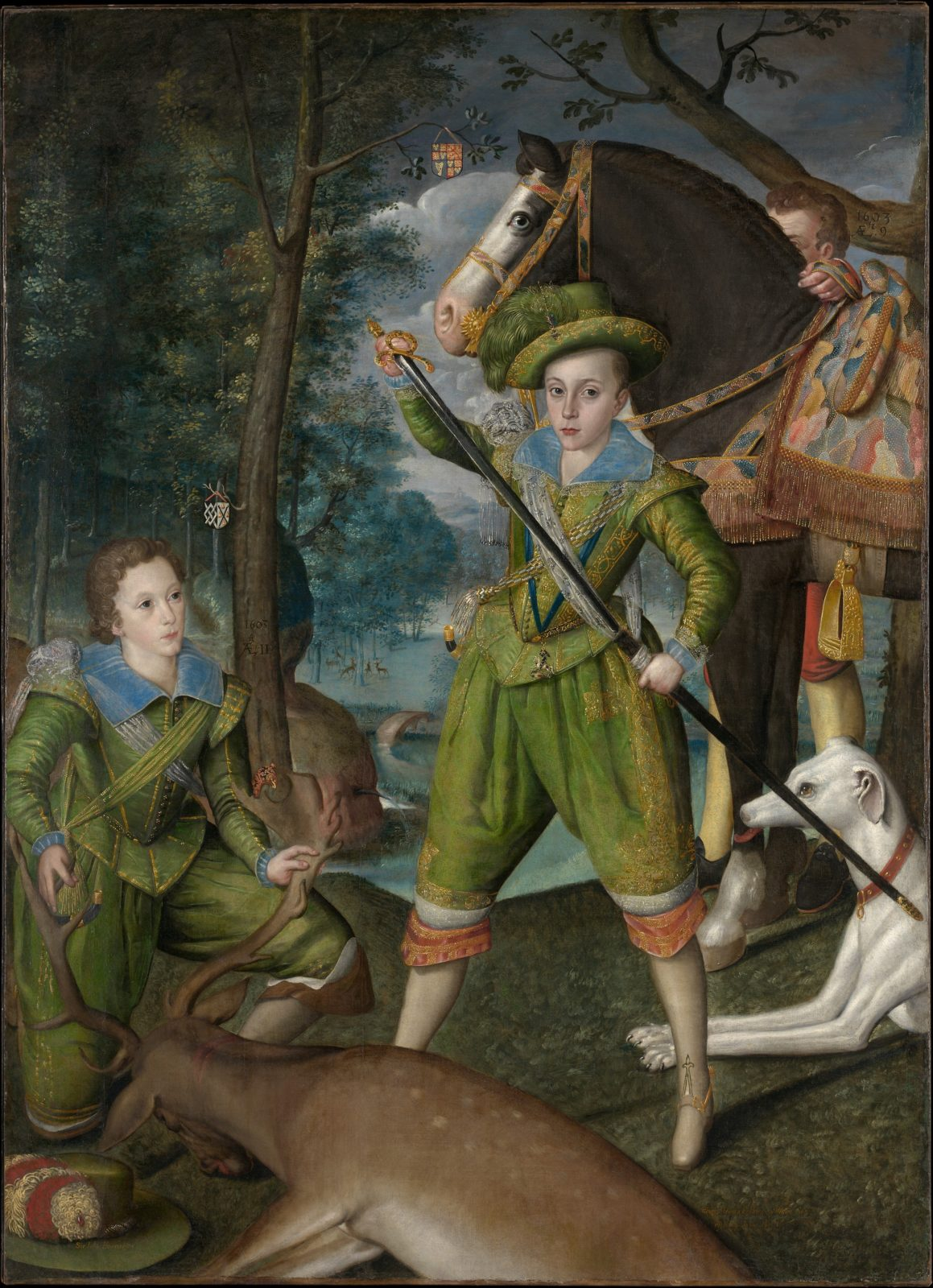 Henry Frederick (1594–1612), Prince of Wales, with Sir John Harington (1592–1614), in the Hunting Field