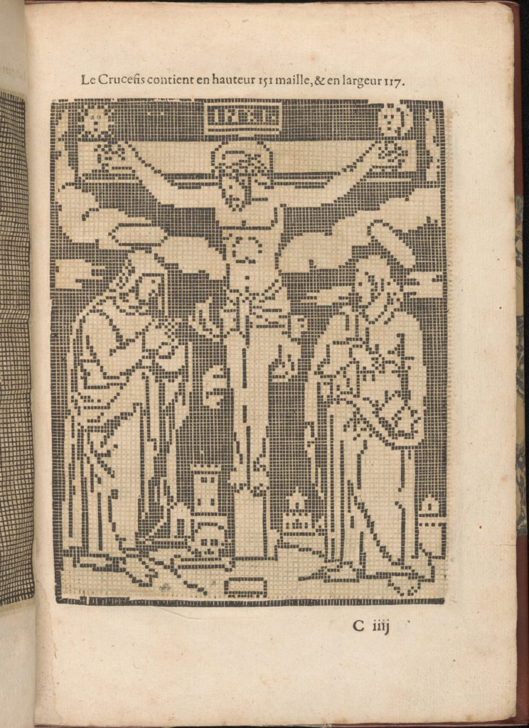 Les Secondes Oeuvres, et Subtiles Inventions De Lingerie du Seigneur Federic de Vinciolo Venitien, page 12 (recto)