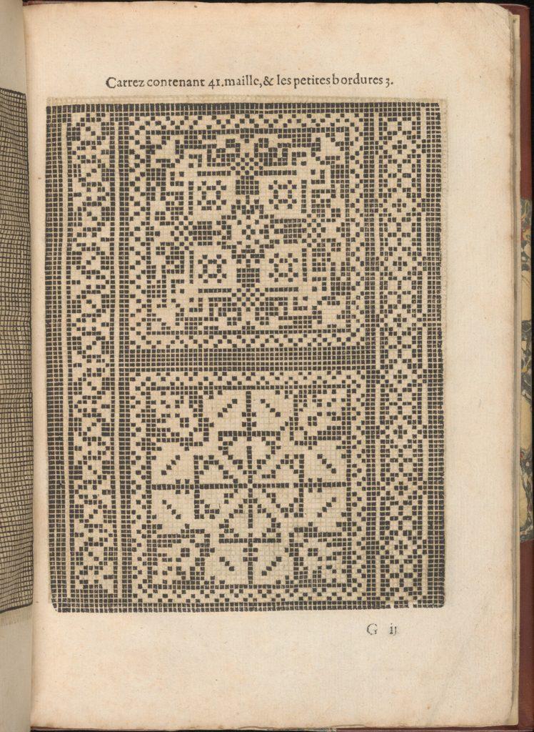 Les Secondes Oeuvres, et Subtiles Inventions De Lingerie du Seigneur Federic de Vinciolo Venitien, page 26 (recto)