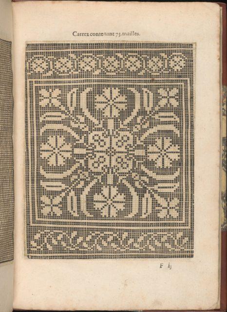 Les Secondes Oeuvres, et Subtiles Inventions De Lingerie du Seigneur Federic de Vinciolo Venitien, page 22 (recto)