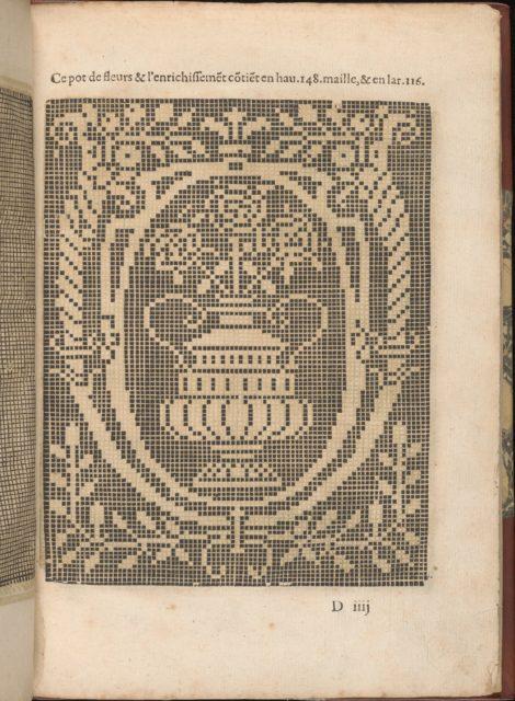 Les Secondes Oeuvres, et Subtiles Inventions De Lingerie du Seigneur Federic de Vinciolo Venitien, page 16 (recto)