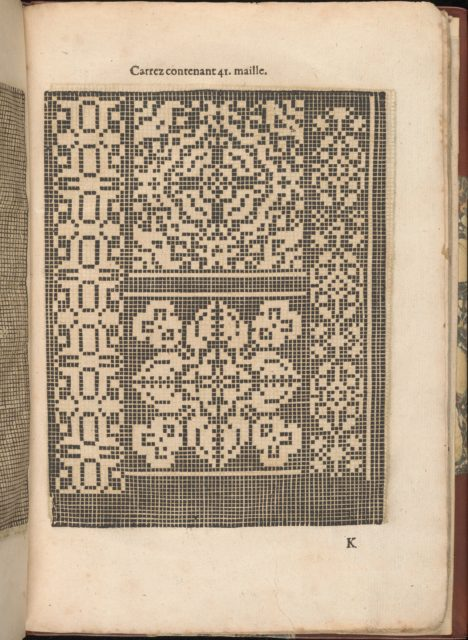 Les Secondes Oeuvres, et Subtiles Inventions De Lingerie du Seigneur Federic de Vinciolo Venitien, page 37 (recto)