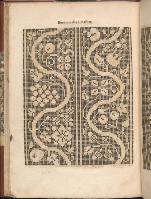 Les Secondes Oeuvres, et Subtiles Inventions De Lingerie du Seigneur Federic de Vinciolo Venitien, page 51 (verso)