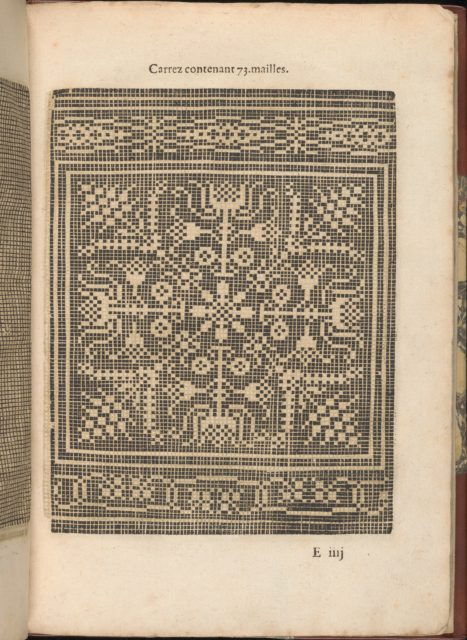 Les Secondes Oeuvres, et Subtiles Inventions De Lingerie du Seigneur Federic de Vinciolo Venitien, page 20 (recto)