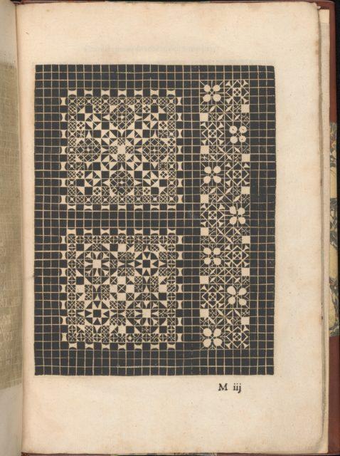 Les Secondes Oeuvres, et Subtiles Inventions De Lingerie du Seigneur Federic de Vinciolo Venitien, page 47 (recto)