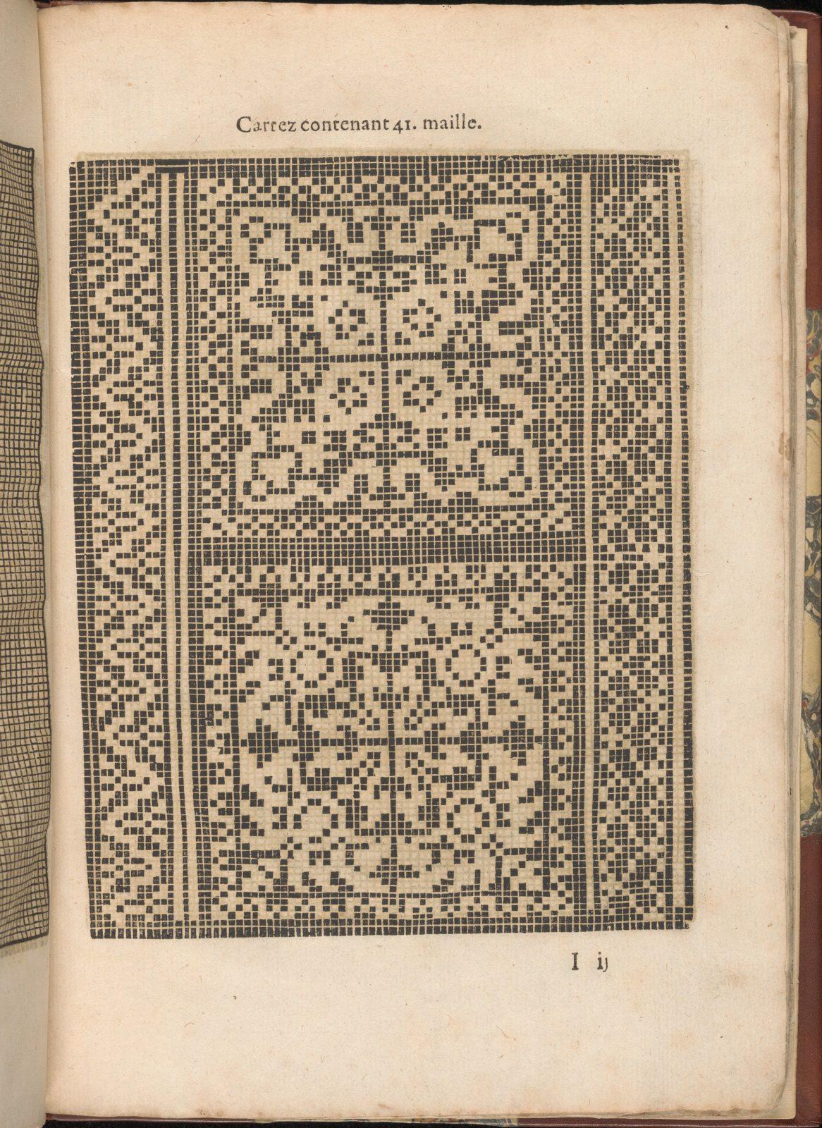 Les Secondes Oeuvres, et Subtiles Inventions De Lingerie du Seigneur Federic de Vinciolo Venitien, page 34 (recto)