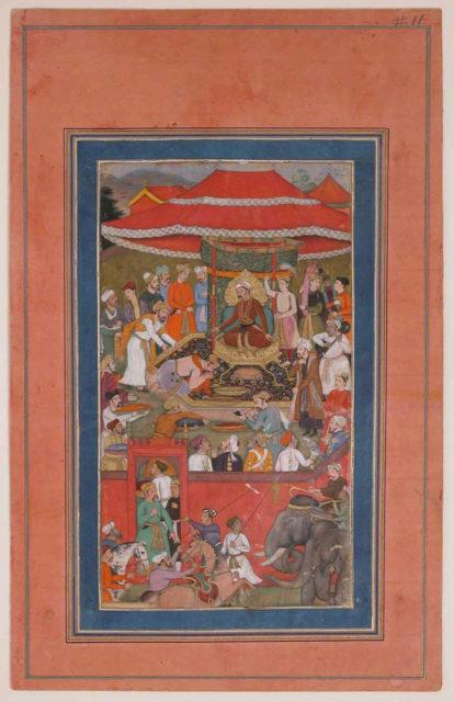 """Asaf khan Presents Offerings (?)"", Folio from the Davis Album"