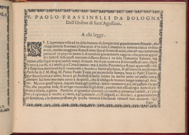 Ghirlanda: Di sei vaghi fiori scielti da piu famosi Giardini d'Italia, page 3 (recto)