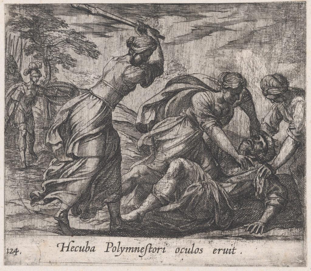 Plate 124: Hecuba and the Trojan Women Murdering Polymestor (Hecuba Polymnestori oculos ervit), from Ovid's 'Metamorphoses'