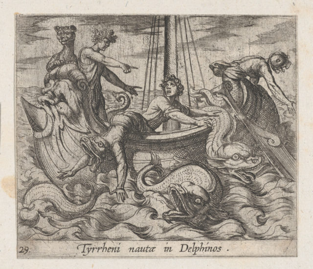 Plate 29: Bacchus Changing his Kidnappers into Monsters (Tyrrheni nautae in Dlephinos), from Ovid's 'Metamorphoses'