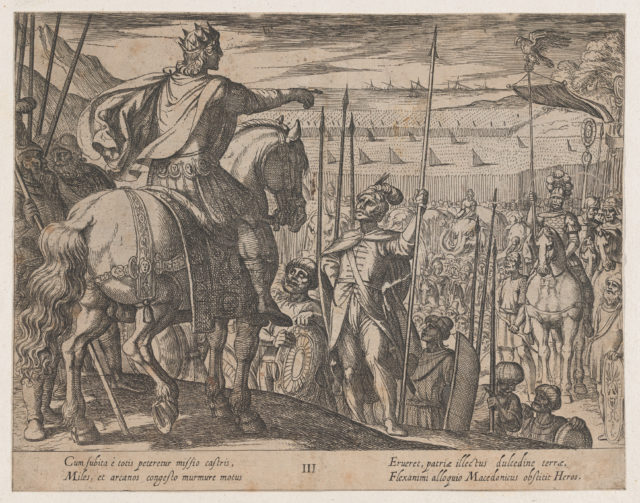Plate 3: Alexander Instructing his Soliders, from The Deeds of Alexander the Great