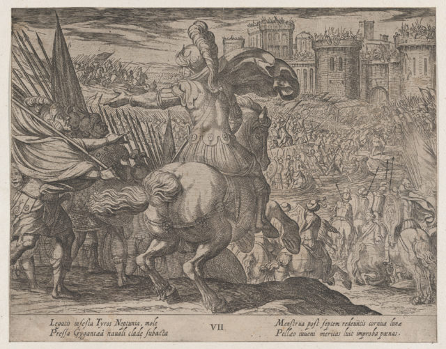 Plate 7: Alexander Attacking Tyre from the Sea, from The Deeds of Alexander the Great