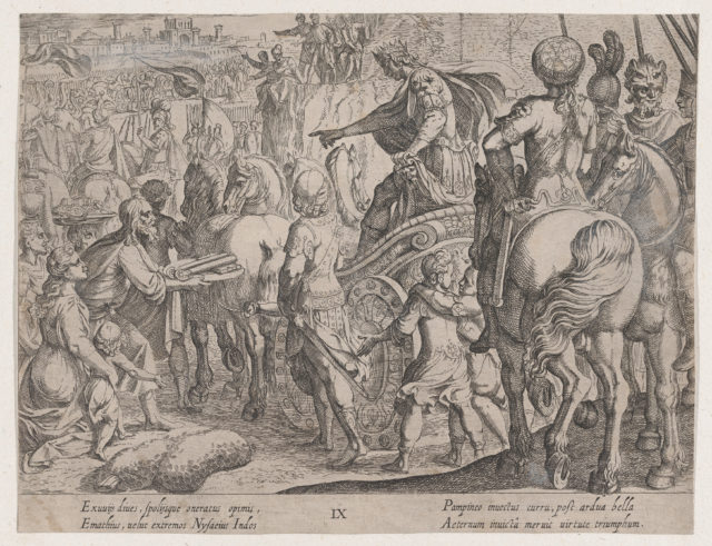 Plate 9: Alexander's Triumphal Entry into Babylon, from The Deeds of Alexander the Great