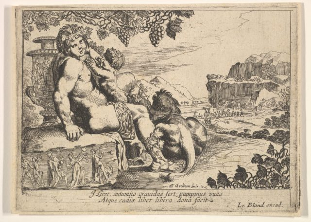Bacchus, Satyr, and Lion