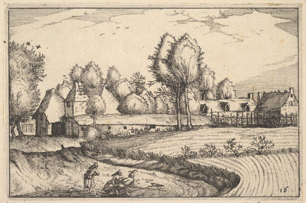 Road along a Field from Regiunculae et Villae Aliquot Ducatus Brabantiae