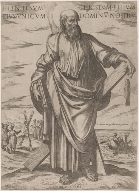 St. Andrew, from 'Christ, Mary and the Apostles'
