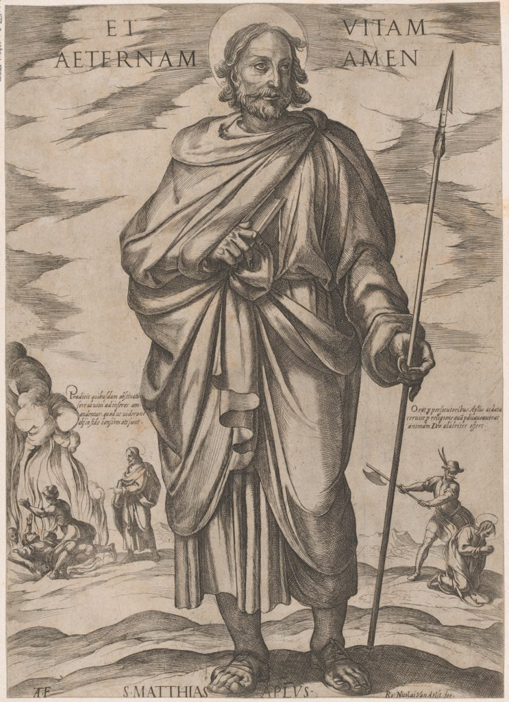 St. Matthias, from 'Christ, Mary, and the Apostles'