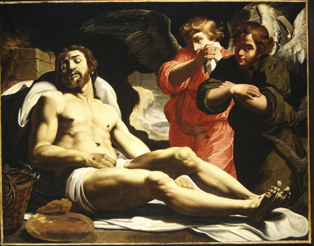 The Dead Christ in the Tomb with Two Angels