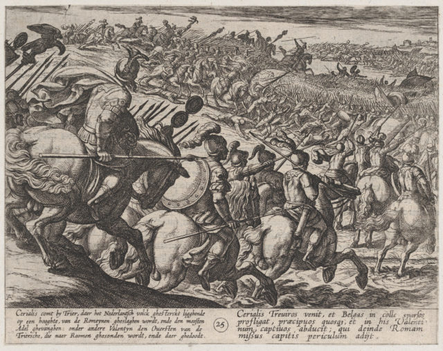 Plate 25: The Roman Commander Cerialis Attacks Near Trier, from The War of the Romans Against the Batavians (Romanorvm et Batavorvm societas)