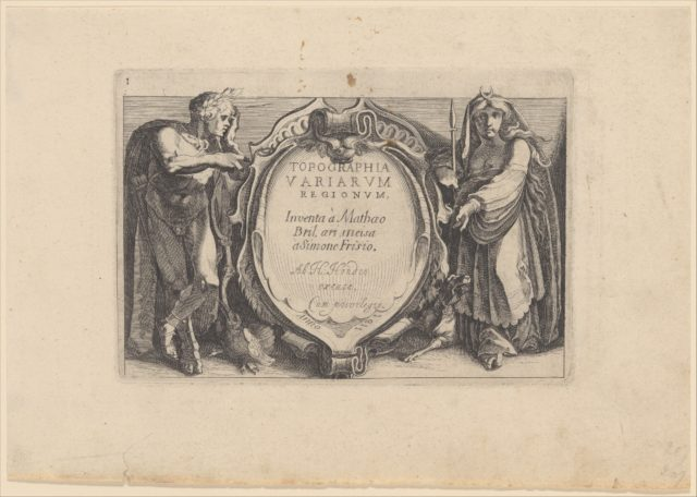 Title to Topographia Variarum Regionum
