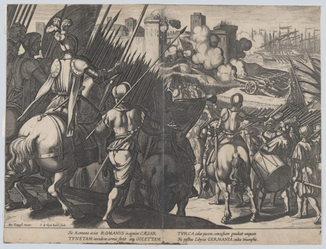 Plate 4: The victory of Goleta, near Tunis, from the Triumphs of Charles V