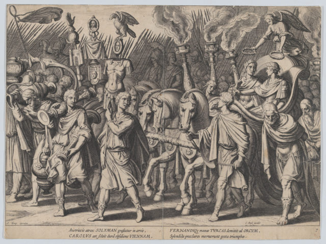 Plate 7: Triumphal Procession after Victory over Turks, from the Triumphs of Charles V