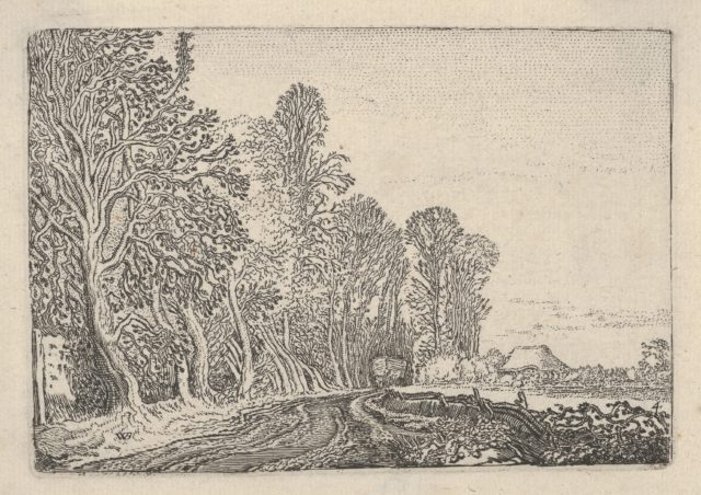 The Road at the Edge of the Forest, from Verscheyden Landtschapjes (Various Landscapes), Plate 4