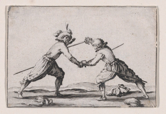 Le Duel a l'Épée (The Duel with Swords), from Les Caprices Series A, The Florence Set