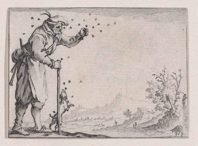 Le Paysan Assailli par les Abeilles (The Peasant Attacked by Bees), from Les Caprices Series A, The Florence Set