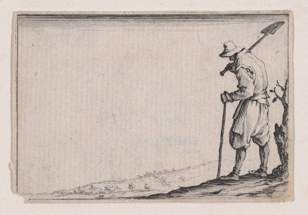 Le Paysan Portant sa Pelle sur L'Épaule (The Peasant Carrying his Shovel on his Shoulder), from Les Caprices Series A, The Florence Set