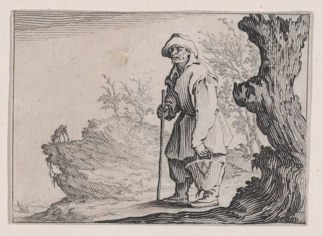 Le Paysan Portant son Sac (The Peasant Carrying his Sack), from Les Caprices Series A, The Florence Set