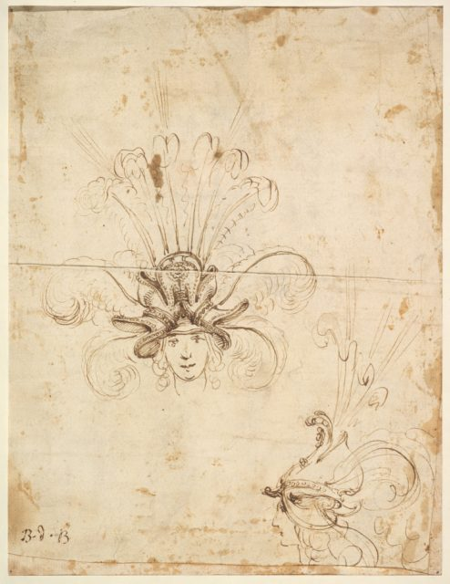 Design for a Headdress (front and side view)