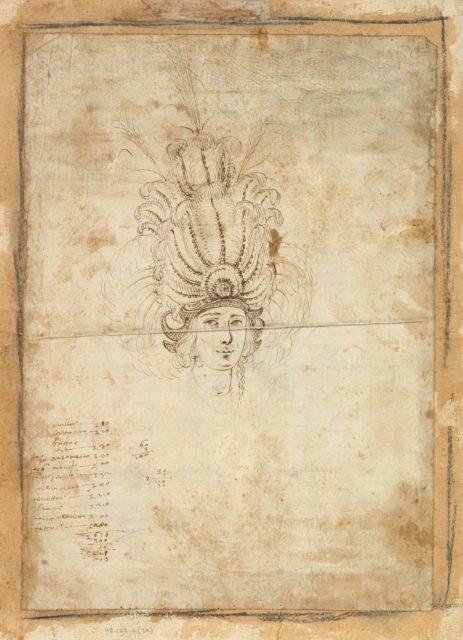 Design for a Man's Headdress