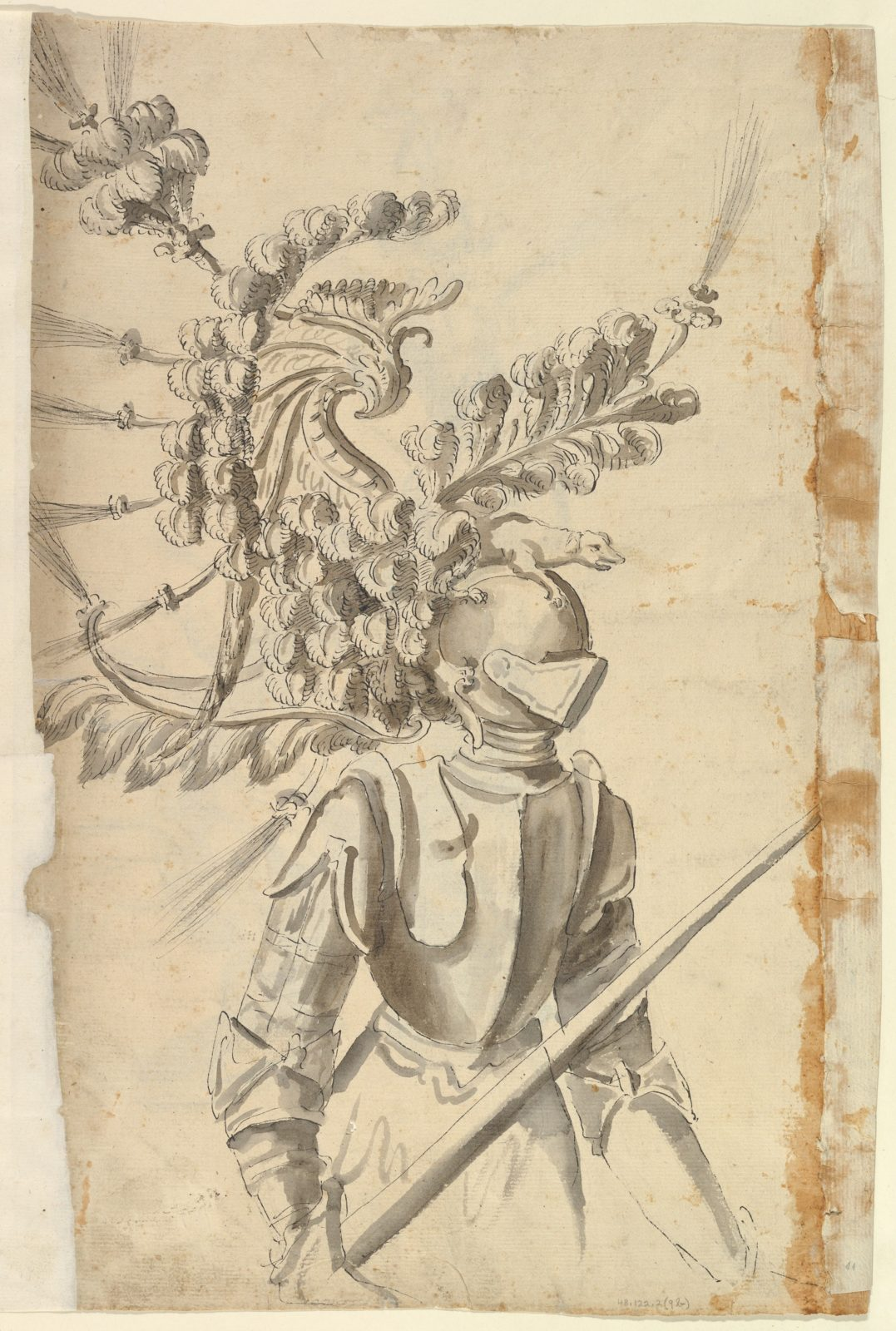 Design for an Armor with Tournament Headdress