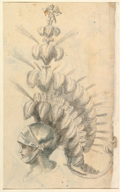 Design for an with Tournament Headdress