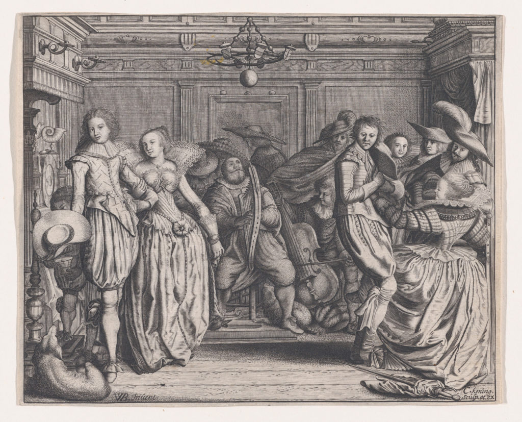 Interior with Dancing Couples and Musicians