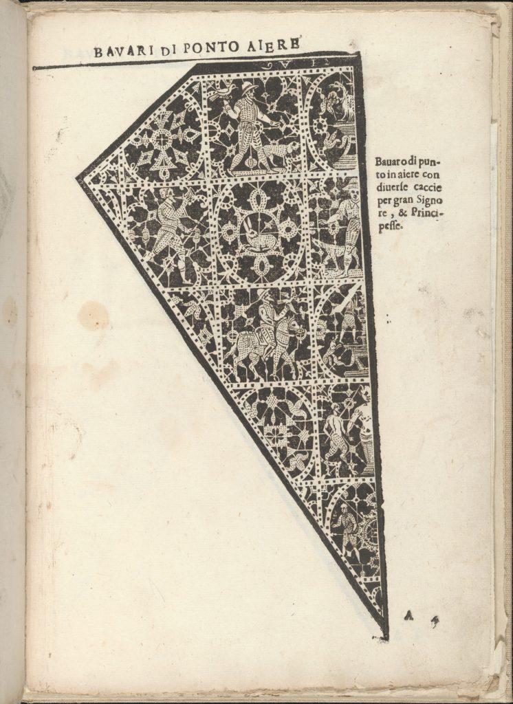 Ornamento nobile...Fatta da Lucretia Romana (Libro V of the Corona), page 4 (recto)