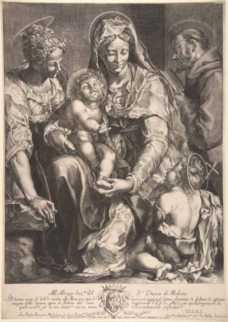 Virgin and Child with Saint Catherine, Francis of Assisi and John the Baptist
