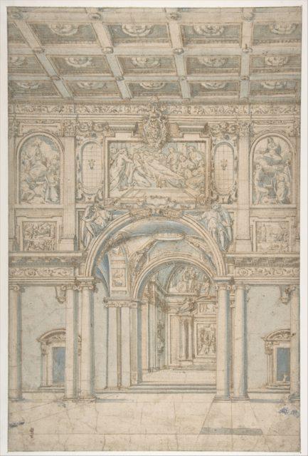 Study of the Interior of Santa Maria Maggiore in Rome.