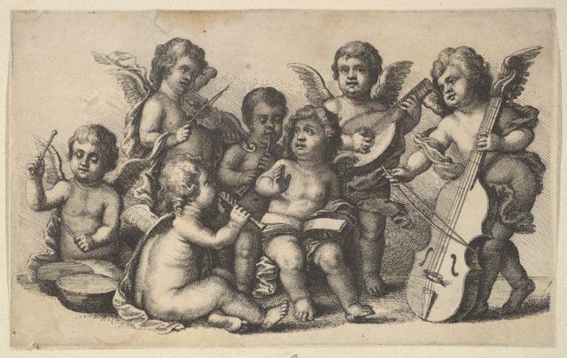 Concert of cherubs on Earth