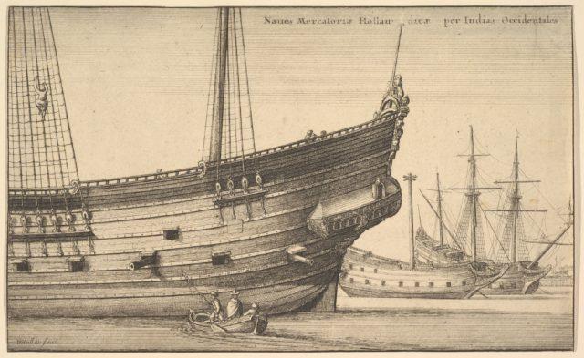 Naues Mercatoriæ Hollan [] dicæ per Indias Occidentales (Dutch West Indiaman)