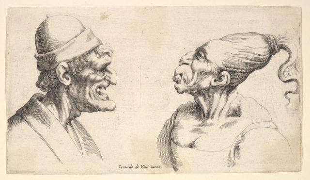 Two deformed heads