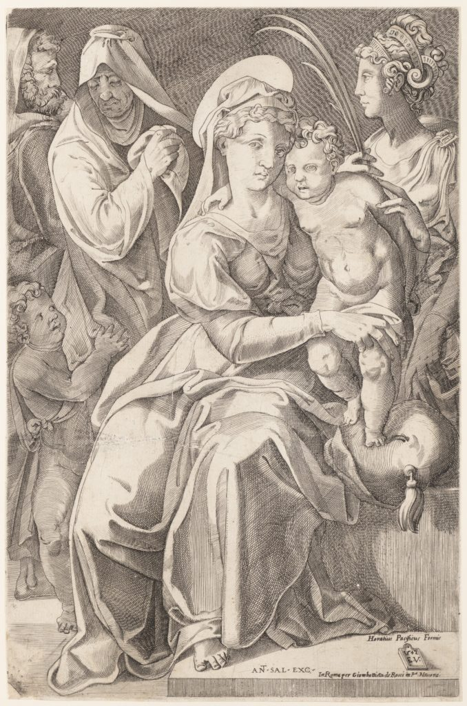 The Holy Family with St. Anne and St. Catherine