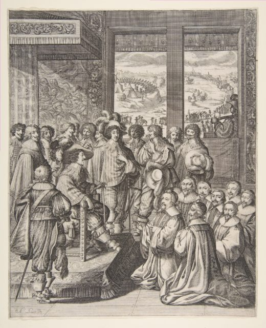 Louis XIII Listens to the Provost of the Merchants of Paris on December 23, 1628